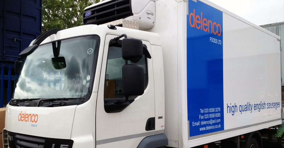 the delenco delivery van